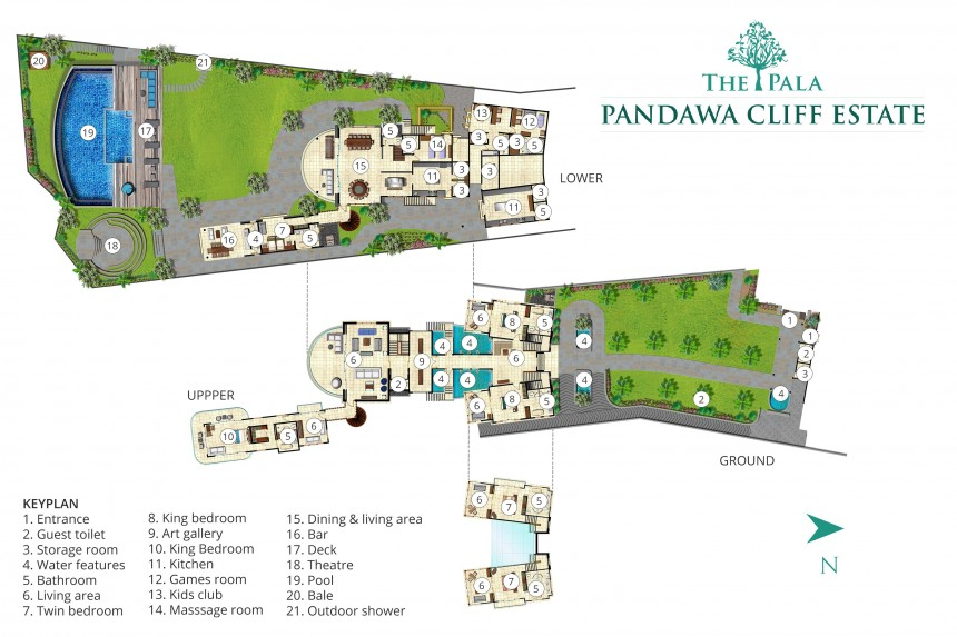 Villa The Pala Pandawa Cliff Estate Plan