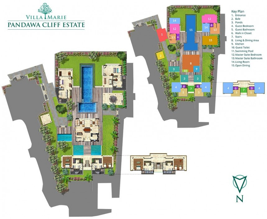 Villa Marie in Pandawa Cliff Estate Plan